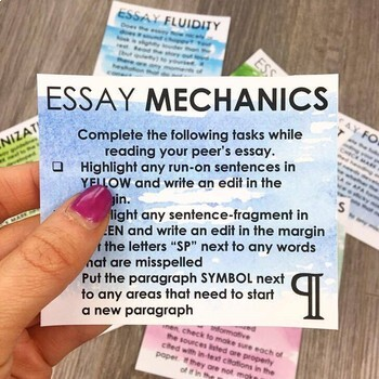 Proofreading Task Cards for ANY Essay: EDITABLE