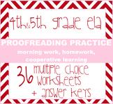 Language and Proofreading Unit - 36 grammar mini-lessons / assessments