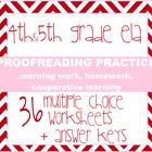 Language and Proofreading Unit - 36 grammar mini-lessons /