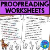 Proofreading Practice Worksheets - NO PREP