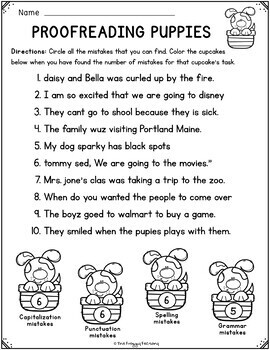 proofreading worksheets editing practice by the froggy. Black Bedroom Furniture Sets. Home Design Ideas