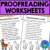 Proofreading Worksheets - Editing Practice | Distance Learning Packet