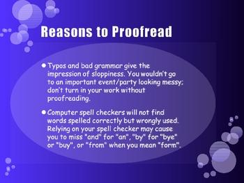 Proofreading Writing Activity (English Language Arts, Writing)