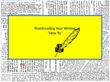 """Proofreading Your Writing """"How To"""""""