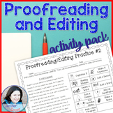 Proofreading and Editing Activity Pack