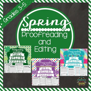 Proofreading and Editing Bundle: Spring Edition