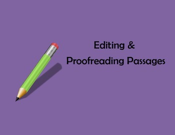 Proofreading and Editing Passages