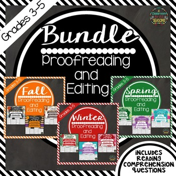 Proofreading and Editing Practice All Year Long