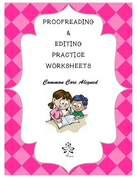 Proofreading and Editing Practice Worksheets