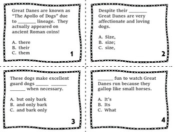 Proofreading and Editing Task Cards