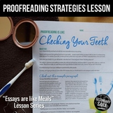 Proofreading is like Checking Your Teeth (DISTANCE LEARNIN