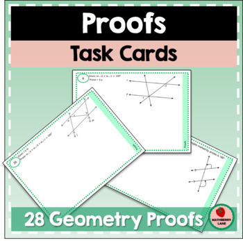 Proofs Geometry Task Cards Equality Practice Review Stations
