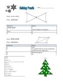 Proofs Holiday Themed Triangle Proofs- ASA, SAS, SSS, & AA