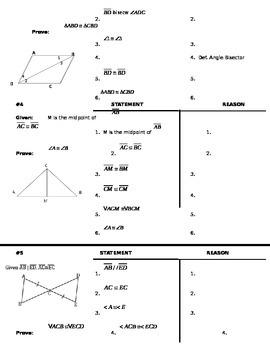 Proofs Quiz