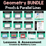 Proofs and Parallel Lines Digital Unit BUNDLE Geometry