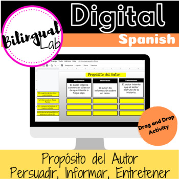Propósito del Autor PIE Google Classroom Activity