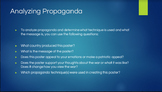 Propaganda Analyzation PowerPoint