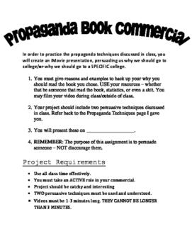 Propaganda Book Commercial