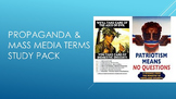 Propaganda & Mass Media Terms Study Pack