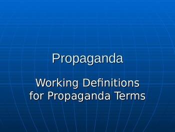 Propaganda Mini Lesson Power Point