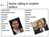 Propaganda: Name calling & Glittering Generalities