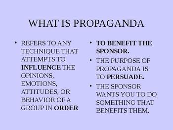 Propaganda Power point, World War two posters