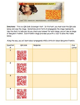 Propaganda Tactics to Avoid - Argumentative Writing QR Code Hunt