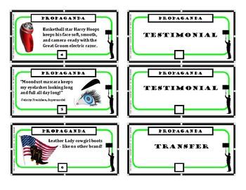 Propaganda Techniques Task Cards
