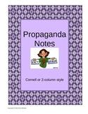 Propaganda Techniques Cornell Notes