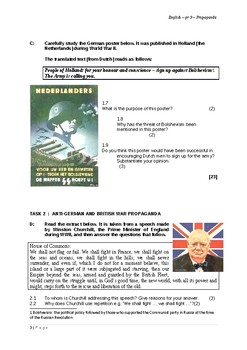 Propaganda - a worksheet