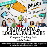 Propaganda & Logical Fallacies Lesson, Complete Teaching Pack