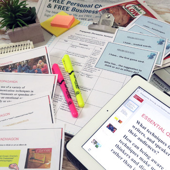 Propaganda & Logical Fallacies Lesson, Complete Teaching Pack