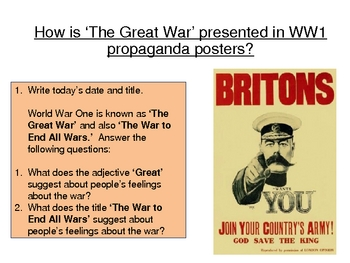 Propaganda and the Trenches