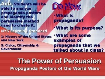 Propaganda and the World Wars