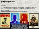 Propaganda lesson and project instructions.