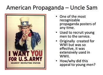 Propaganda - teaching persuasion through WWII propaganda