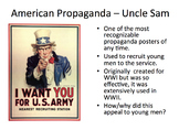 Propaganda - teaching persuasion through WWII propaganda