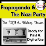 Nazi Propaganda Analysis from the Holocaust & WWII for ELA, History CCSS Aligned
