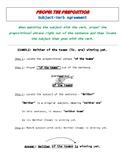 Propel The Presposition: Noun-Verb Agreement