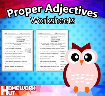 Proper Adjectives Worksheets