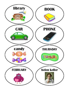Proper/Common Noun Sort, Nouns, Picture Sort, *Printables*