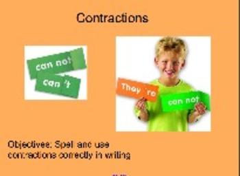 Proper Contraction Usage When Writing - Upper Grades