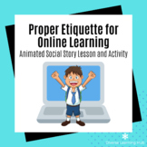 Distance Learning Etiquette for Special Ed Social Story an