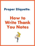 Proper Etiquette: How to Write Thank You Notes