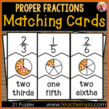 Proper Fraction Matching - 3 Part Puzzles