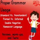 Proper Grammar Usage   Worksheets   Reviews   Warm Ups   A