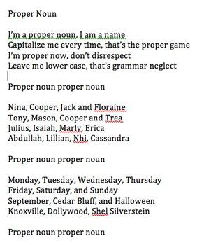 Proper Noun