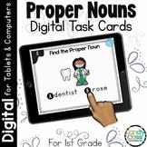 Proper Noun Task Cards: First Grade Grammar Activities for