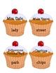 Proper Noun Cupcakes Matching Game