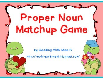 Proper Noun Matchup Game (flashcards)